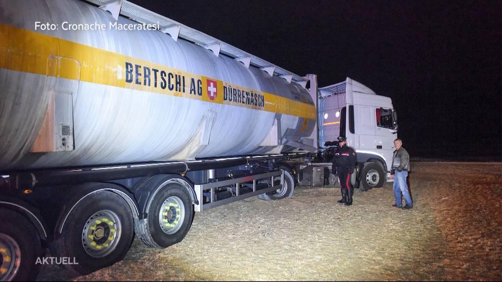 Aargauer Tankanhänger strandet an italienischer Küste