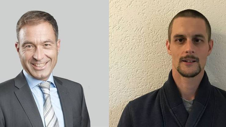 Rémy Wyssmann (links) und Christoph von Felten wurden von der Partei nominiert.