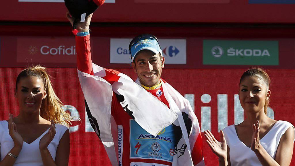 Strahlt wieder in Rot: Fabio Aru (25) steht vor dem Gesamtsieg der 70. Vuelta