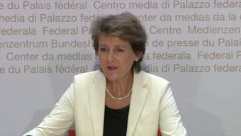 Bundespräsidentin Simonetta Sommaruga: Der Bundesrat will Postfinance erlauben, Hypotheken und Kredite zu vergeben.