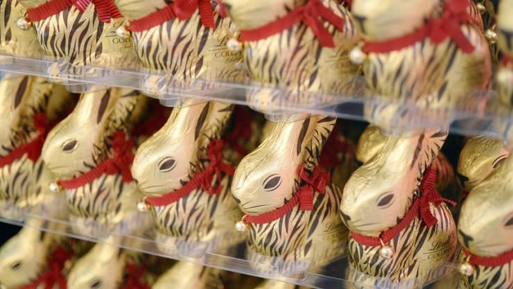 Goldhasen von Lindt & Sprüngli: Der Schokoladehersteller steigerte Umsatz und Gewinn im vergangenen Geschäftsjahr. (Archiv)