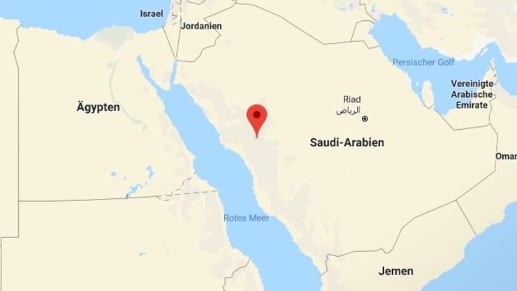 Das Busunglück ereignete sich in der Region der Grossstadt Medina im Westen Saudi-Arabiens.