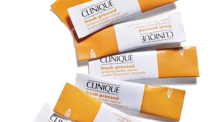 Der « Fresh Pressed Renewing Powder Cleanser » von Clinique