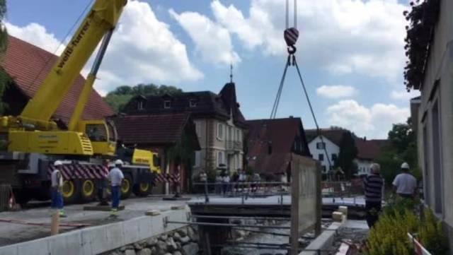 Brückenverschiebung Birmensdorf