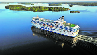 Das Studienobjekt in Aktion Die «Silja Serenade».