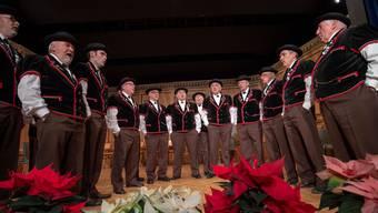 Der Jodlerklub Bärgblueme bei seinem Auftritt im Januar 2019.