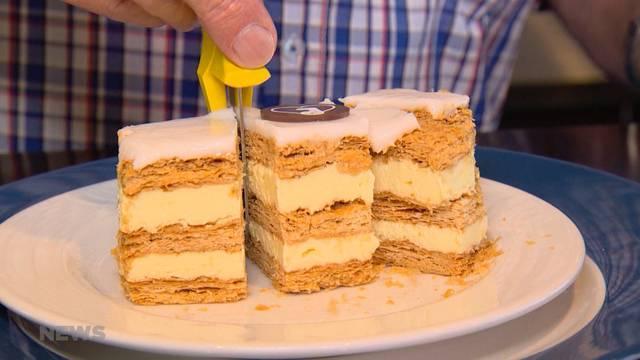 Problem gelöst: Der Crèmeschnitten-Schneider ist da!