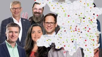 Alle Grossratskandidaten auf einer Karte
