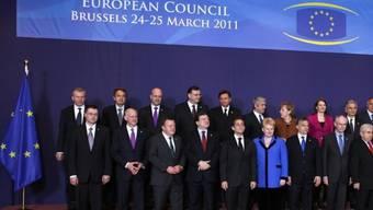 Ein Teil der anwesenden Staats- und Regierungschefs in Brüssel