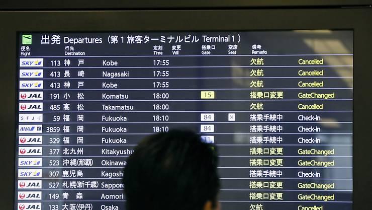 In Japan mussten am Dienstag aufgrund eines Taifuns zahlreiche Flüge gestrichen werden. (Archivbild)