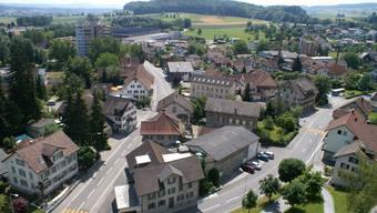 Villmergen - Dorfansicht vom Kirchturm aus. Archiv