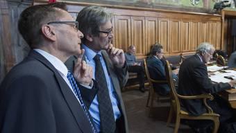 Pirmin Bischof (l.) und Roberto Zanetti im Ständeratssaal.