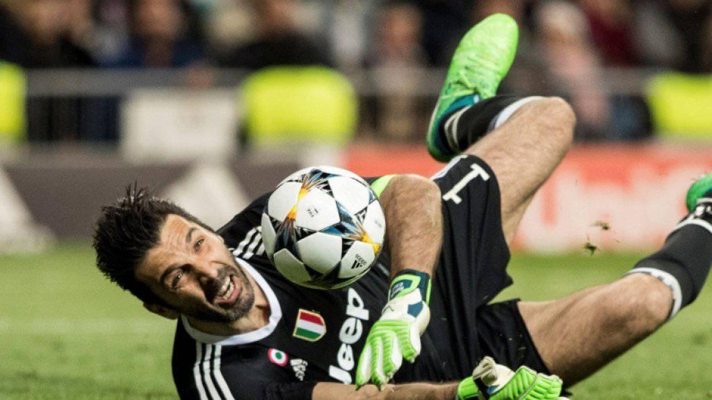 Es war wohl sein letztes Europacup-Spiel: Juve-Keeper Gigi Buffon in Aktion