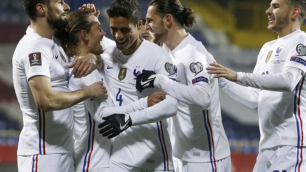 Antoine Griezmann sicherte Frankreich den Sieg gegen Bosnien-Herzegowina mit einem Kopfballtreffer