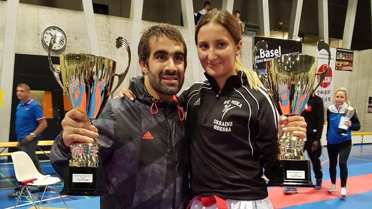 Die beiden Basel Open Masters 2017 Rafael Aghayev und Iryna Zaretska