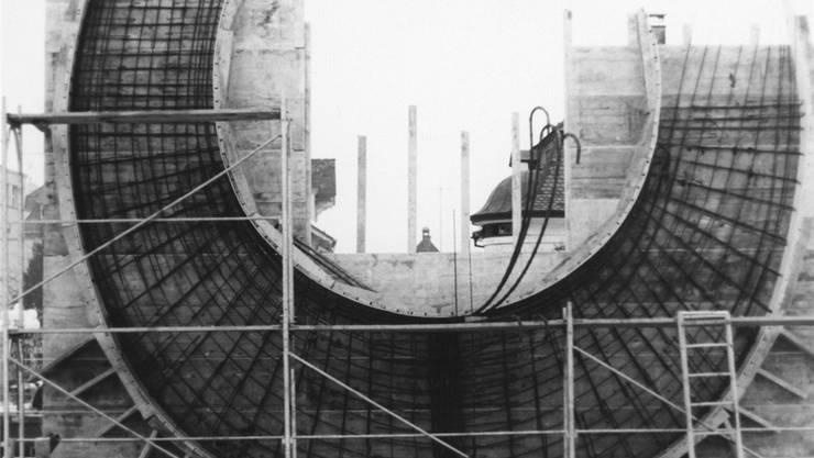 Sechs Tonnen Armierungseisen wurden bei der Errichtung der Skulptur 1970 verbaut. Fredi Staub