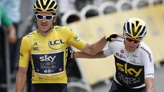 Ende einer Ära: 2019 wird das letzte Jahr des Radsport-Teams Sky mit den Tour-de-France-Siegern Geraint Thomas (li.) und Chris Froome sein