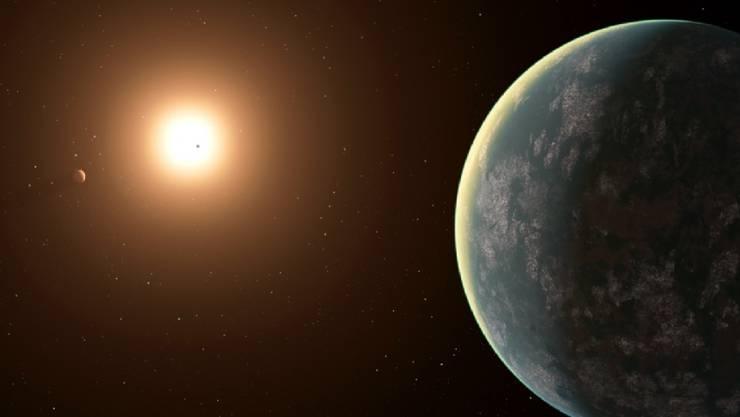 Künstlerische Darstellung des Planetensystems von GJ 357. (zVg Carl Sagan Institute/Jack Madden)