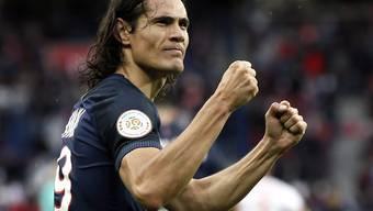 Der Stürmer Edinson Cavani aus Uruguay schoss Paris Saint-Germain zum Sieg