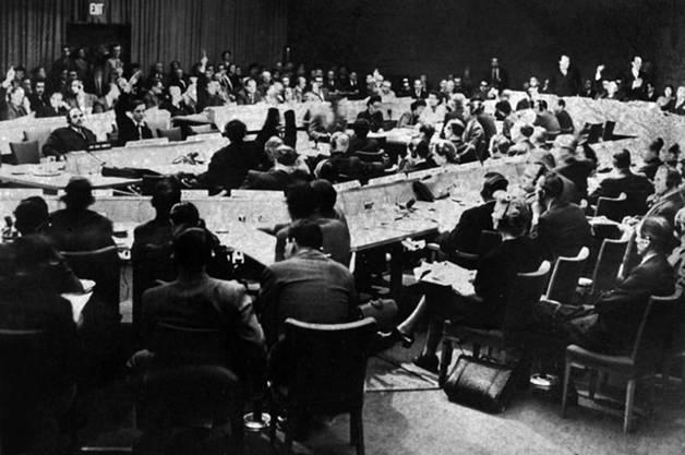 Vor 70 Jahren: Die UNO in New York stimmt für den Teilungsplan.