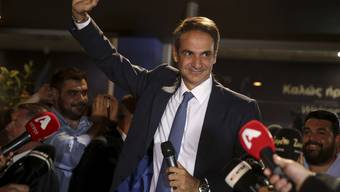 Kyriakos Mitsotakis, Chef der Nea Dimokratia, nach seinem Wahlsieg.