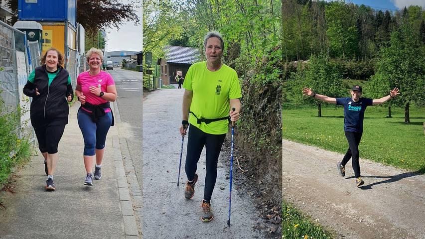 Tradition: LäuferInnen absolvieren die Auffahrtslaufstrecke
