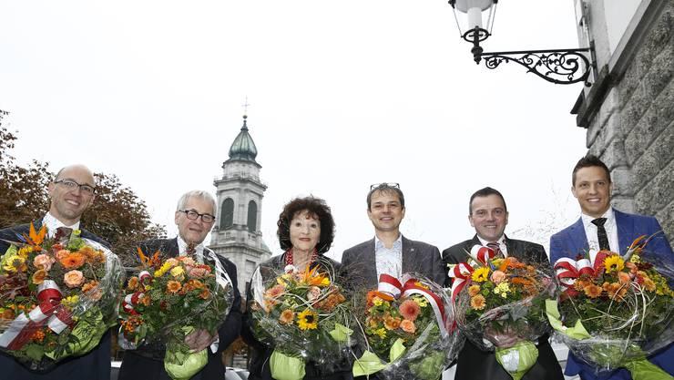 Der Solothurner Nationalrat: Stefan Müller-Altermatt, Kurt Fluri, Bea Heim, Philipp Hadorn, Walter Wobmann und Christian Imark.