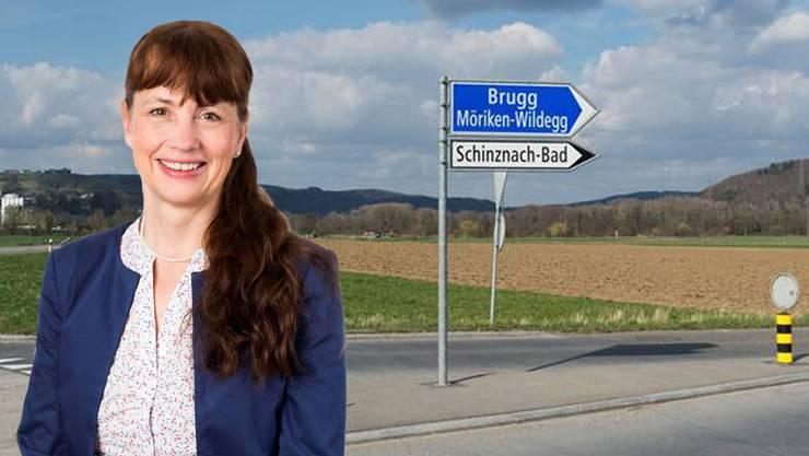 Martina Sigg hat gegen die Fusion von Brugg und Schinznach-Bad gestimmt. (Montage)