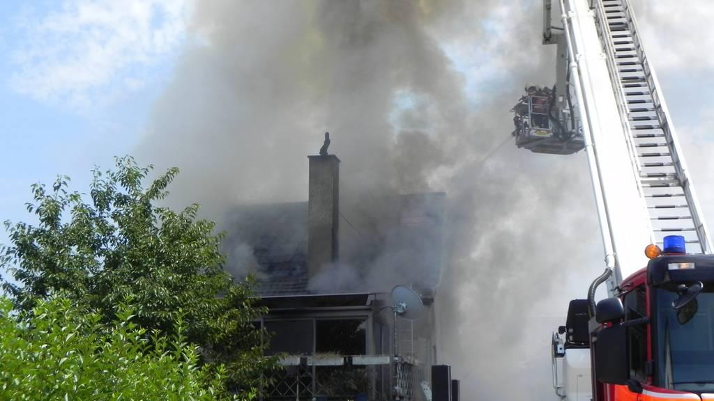 In Basadingen brannte ein Haus.