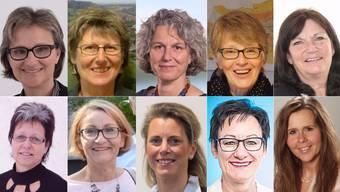 20 der 41 gewählten Gemeinderätinnen im Fricktal
