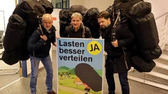 Von links: Alex Hein (Gemeindepräsident Grellingen), Alexander Imhof (Stadtpräsident Laufen), Daniel Spinnler (Stadtpräsident Liestal).