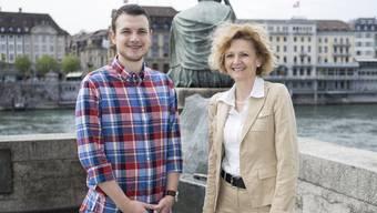 CVP-Präsident Silvio Fareri und seine Vizepräsidentin Béatrix-Dorothée von Sury d'Aspremont