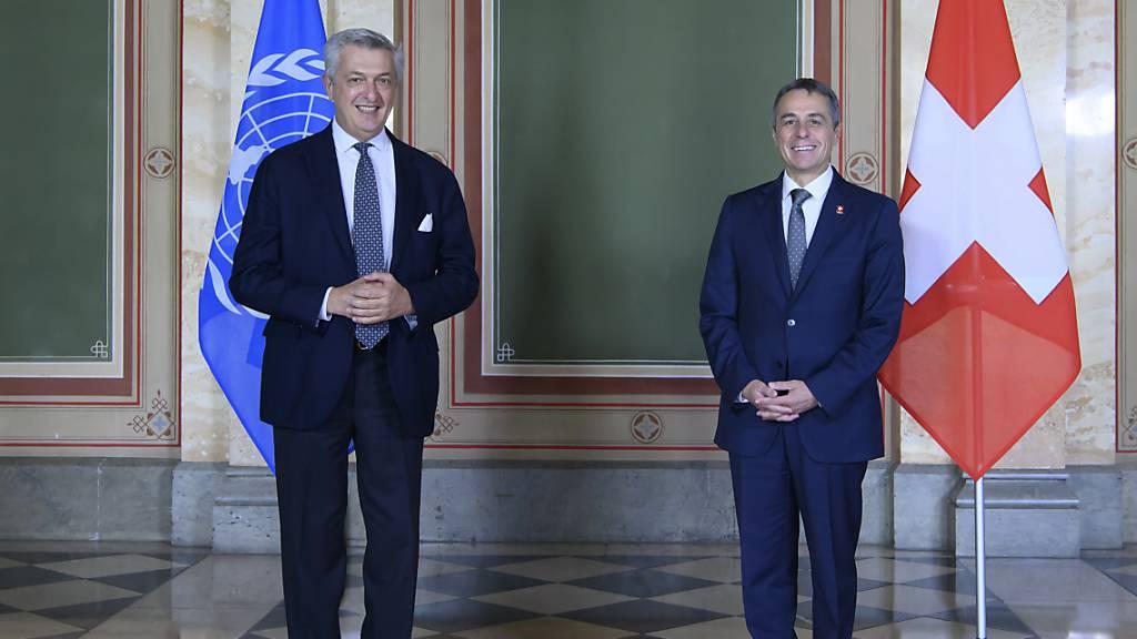Cassis bekräftigt Schweizer Unterstützung in der Afghanistan-Krise