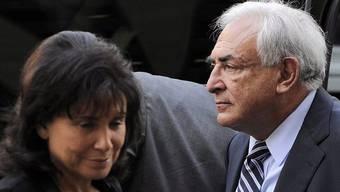 Dominique Strauss-Kahn und seine Frau Anne Sinclair (Archiv)