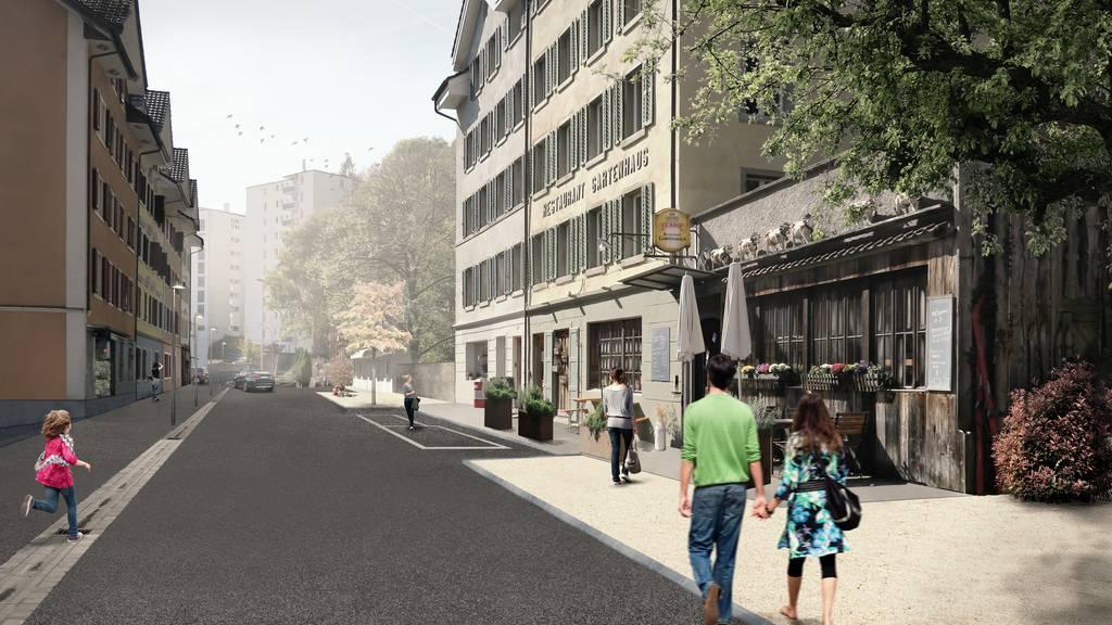 Lindenstrasse in der Stadt Luzern soll zur Begegnungszone werden