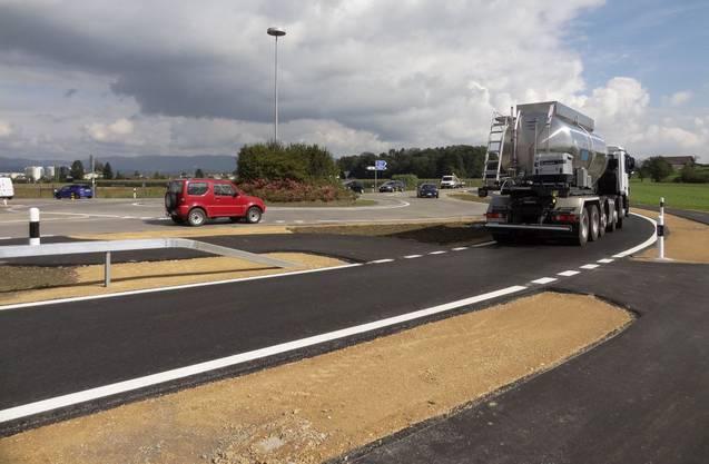 Auch der lokale Lastwagenverkehr benützt bei Bedarf den Bypass