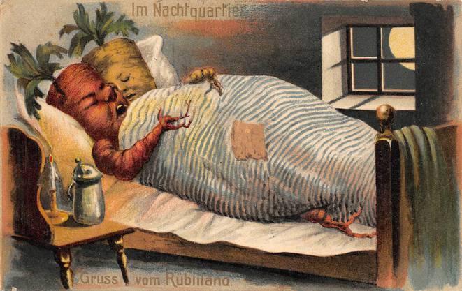 Was für ein wunderschönes Motiv: Gruss vom Rübliland. Sie machte den Weg von Brugg nach Schmerikon mit der Feldpost 1913.