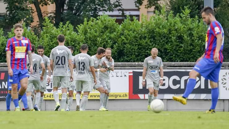 Der FC Aarau überzeugt mit Solidarität, Kampfwille, Laufbereitschaft und Aggressivität in Chiasso.