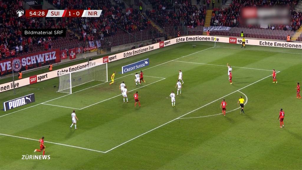 Fussball: Schweiz gewinnt mit 2:0 gegen Nordirland