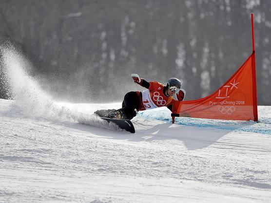Nevin Galmarini fuhr im Parallel-Riesenslalom der Alpin-Snowboarder wie auf Schienen und sicherte sich nach 2014 die zweite Olympia-Medaille