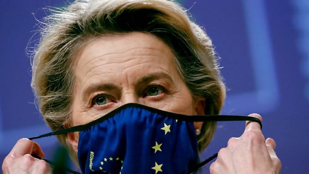 Ursula von der Leyen, Präsidentin der Europäischen Kommission. Foto: Francisco Seco/Pool AP/dpa