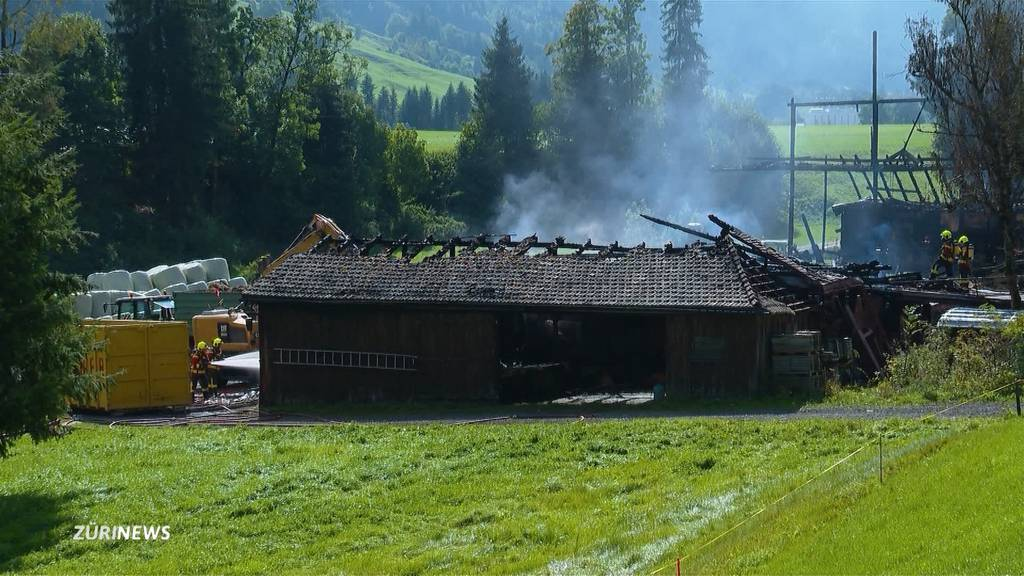 Stall in Trachslau SZ niedergebrannt