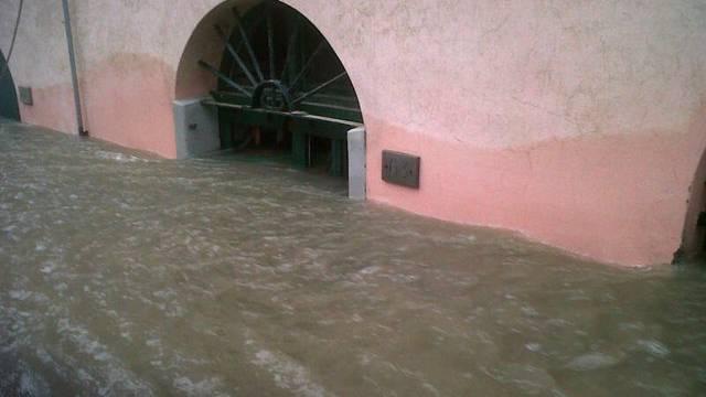 Überflutete Strassen in Ligurien (Archiv)