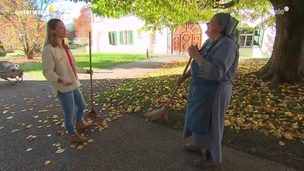 Sara Wicki im Frauenkloster Sarnen