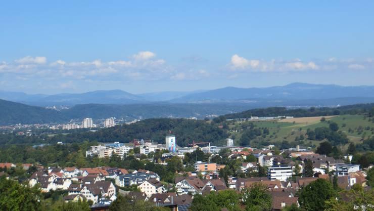 Der Blick vom Eben-Ezer , heute sagt man auch Dahay auf Frenkendorf.