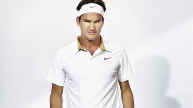 Roger Federer ist wieder dort, wo er sich am wohlsten fühlt. Foto: nike