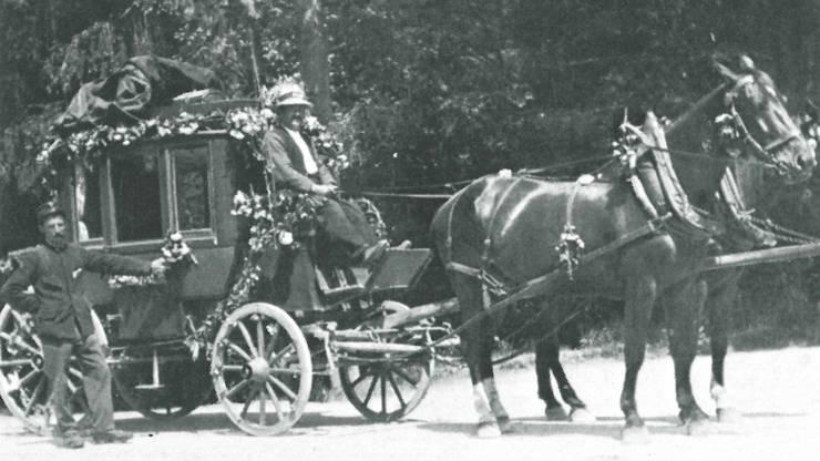 Service public aus einer anderen Zeit: Die letzte Fahrt der Postkutsche von Teufenthal nach Dürrenäsch 1926.