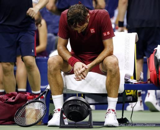 Und Roger Federer im Tal der Tränen.