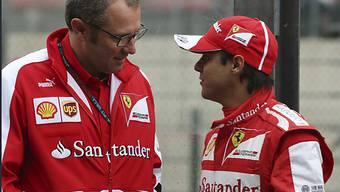 Vor der Trennung: Ferrari-Teamchef Domenicali (links) und Massa