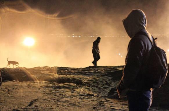 Tränengasschwaden an der Grenze in Tijuana am 1. Januar.